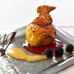 Dessert gastronomique Meyrueis Hôtel Family & Spa